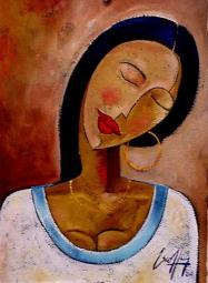 'Day Dream' by Michael Escoffery. Oil on paper.