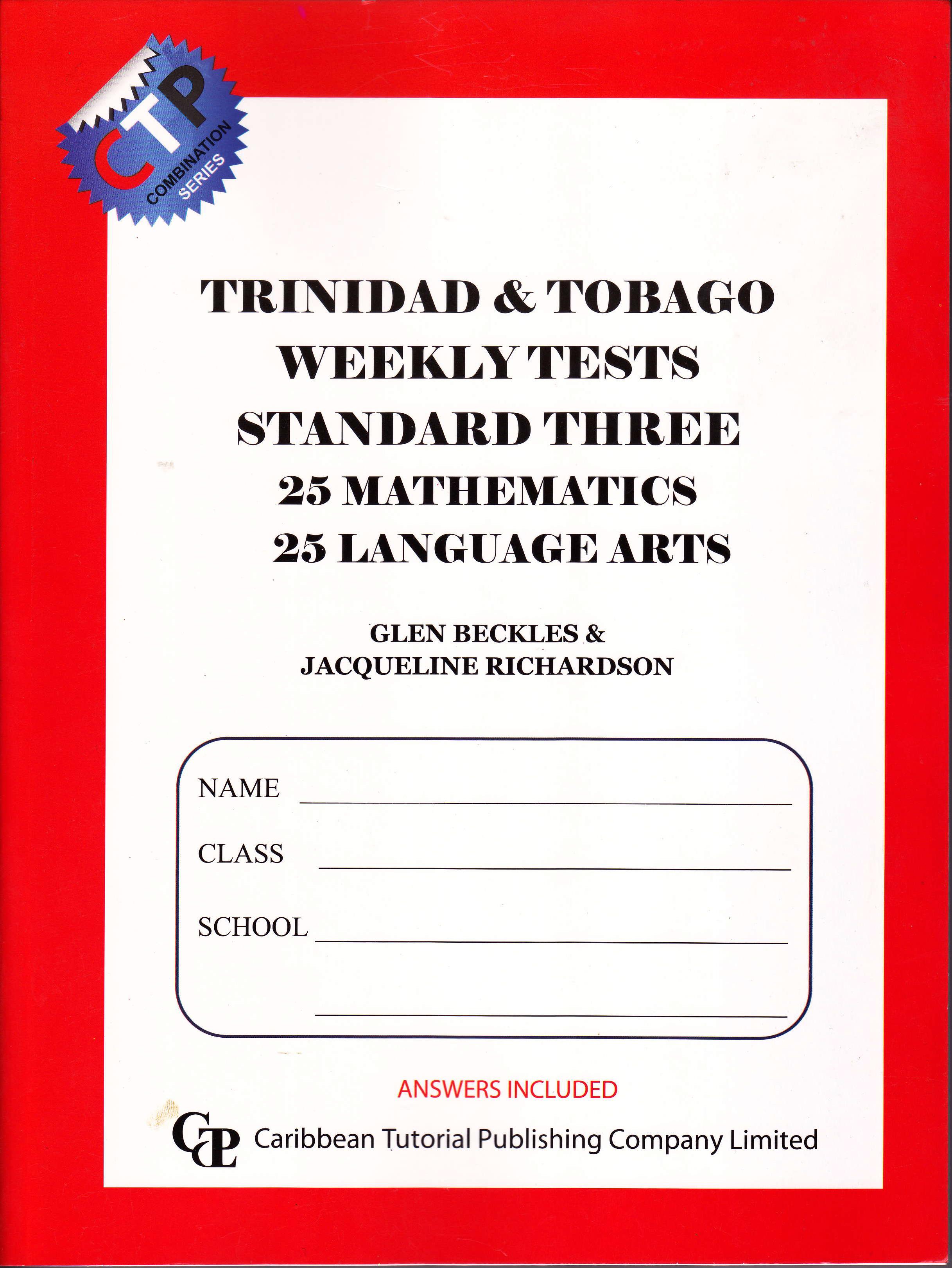 Trinidad Amp Tobago Weekly Tests Standard 3