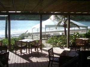 The beach at Cotton Bay Villas