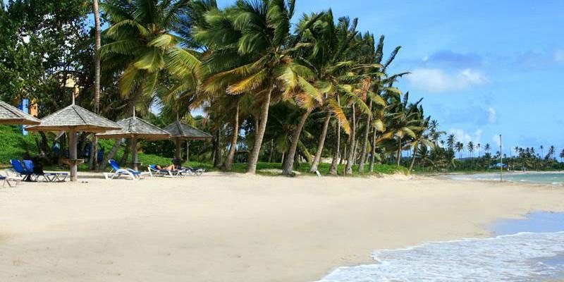 Beach at Coconut Bay Beach Resort St. Lucia with Craibbean Warehouse