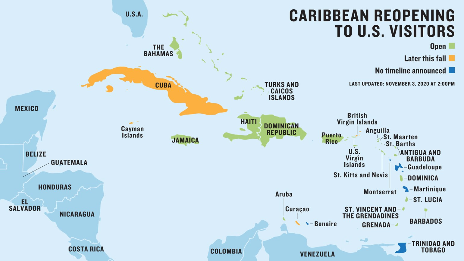 Updated: The latest Caribbean travel protocols for U