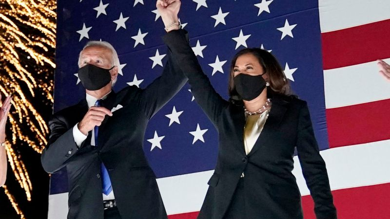 Joe Biden and Kamala Harris declared winners of 2020 US