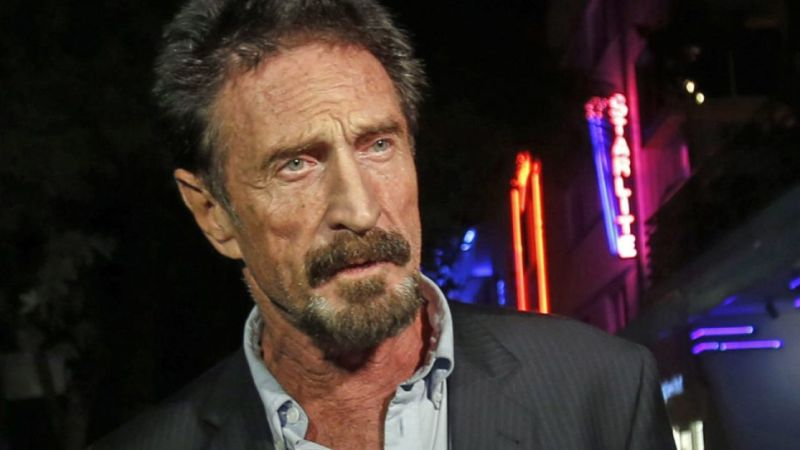 Antivirus software creator John McAfee charged with cheating investors