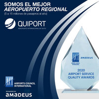 Airports Council International recognizes the Quito airport as the best