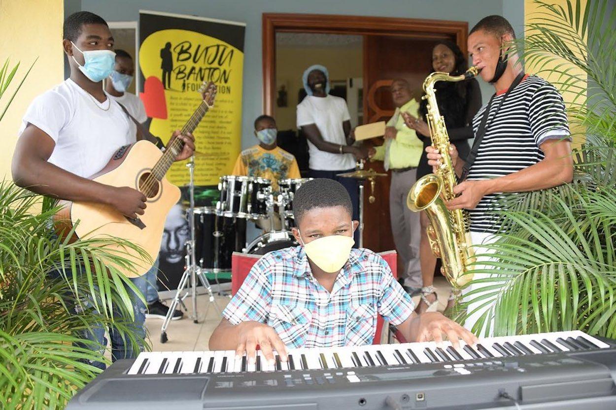 Buju Banton Gifts Music Equipment to Mount Olivet Boys' Home