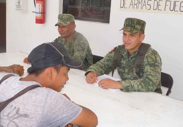 Sedena busca regular tenencia de armas en Lázaro Cárdenas