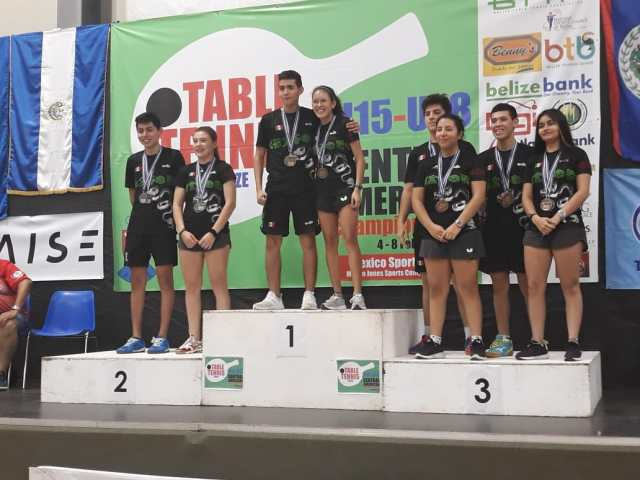 Quintanarroenses ganan en Belice a nombre de México y clasifican al Panamericano de Tenis de Mesa
