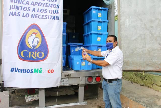 Empresa avícola yucateca dona cuatro toneladas de pollo a familias morelenses vulnerables