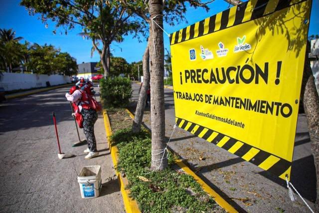 Mejoran imagen urbana de Isla Mujeres para recibir al turismo