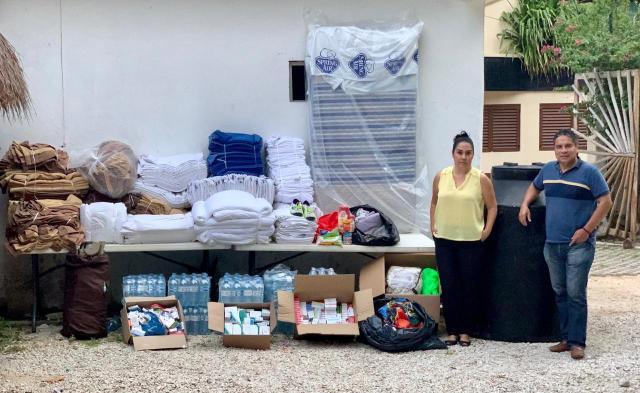 Empresarios de la Riviera Maya apoyan a familias damnificadas por inundaciones en sur de Q.Roo