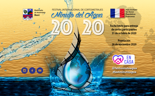 La entrega de cortos participantes del Festival Internacional de Cortometrajes Minuto del Agua  finaliza el 31 de octubre