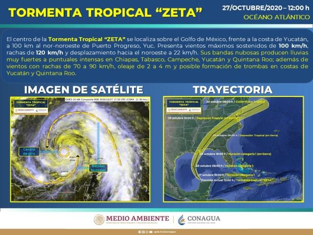 Seguirán las lluvias, vientos fuertes y posibles trombas en las próximas horas