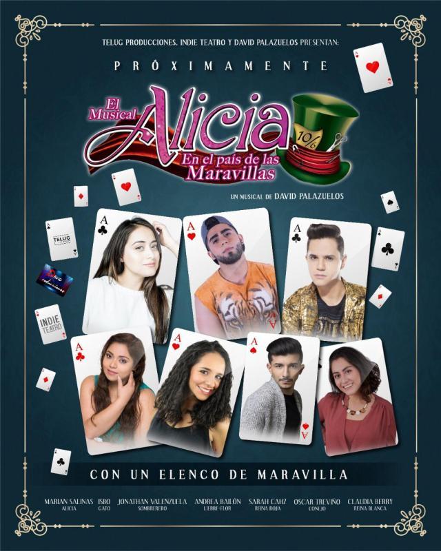 """Los protagonistas del musical virtual  """"Alicia en el país de las maravillas"""", Marian Salinas e Isbo"""