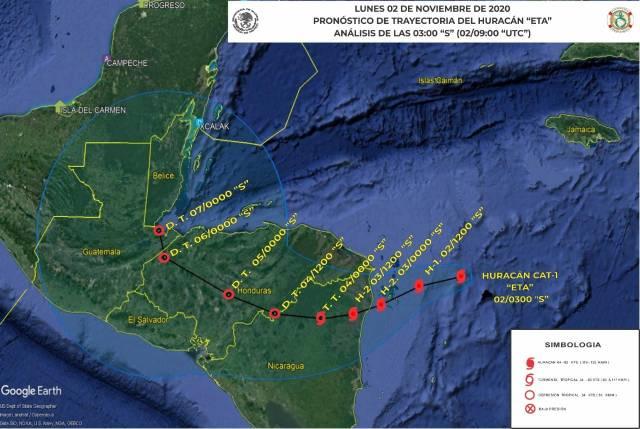 """Se forma el huracán """"Eta"""" en el Caribe no representa riesgo para Quintana Roo"""