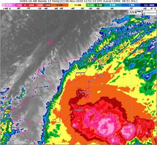 """Quintana Roo, sin riesgo por """"Eta"""", que tocaría Cuba convertido en tormenta tropical"""