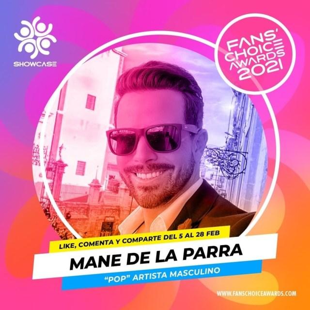 """Mane de la Parra nominado en los """"Fans' Choice Awards 2021"""""""