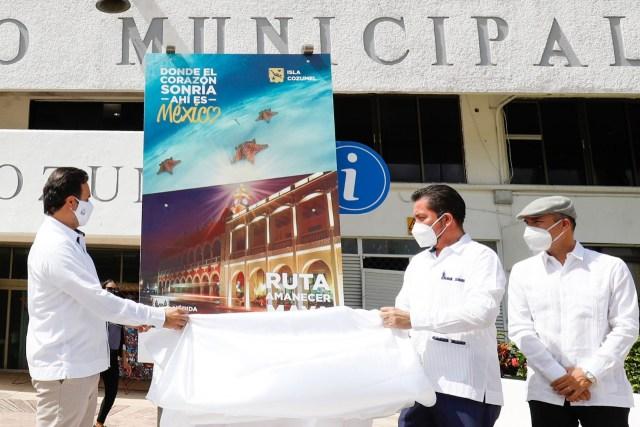"Anuncian ""Ruta Amanecer Maya"" para unir a Cozumel con Mérida"