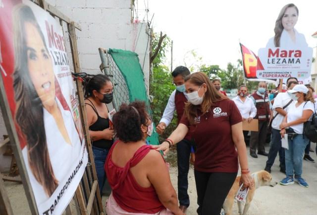 Mara Lezama ofrece reducir la brecha de desigualdad social