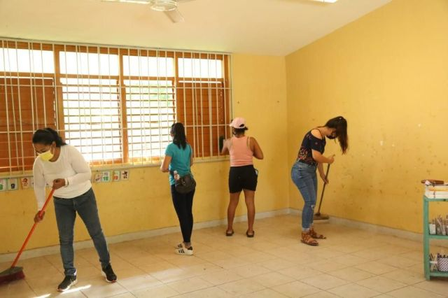 Avanza la rehabilitación de escuelas en Quintana Roo para el retorno gradual a clases presenciales