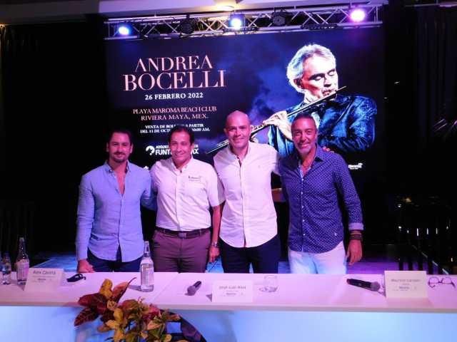 Se presentará Andrea Bocelli en la Riviera Maya