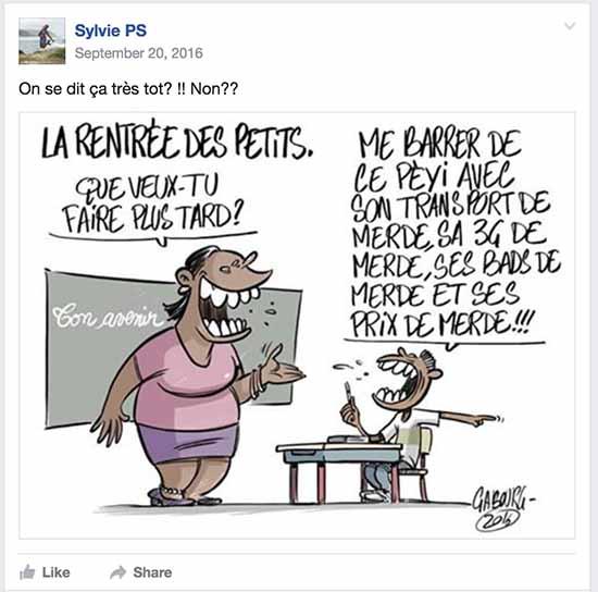 rentrer aux antilles - caricature Gabourg association antillais de retour au pays