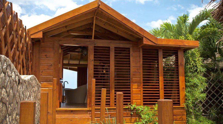 Above: the new holistic bath house at Jamaica's Rockhouse (Photo: Michael Condran)