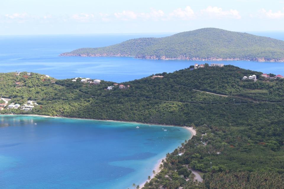 Above: Magens Bay in St Thomas