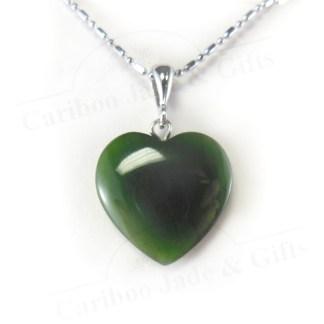 BC jade heart pendant