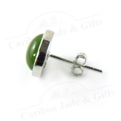 bc jade sterling silver bezel earring