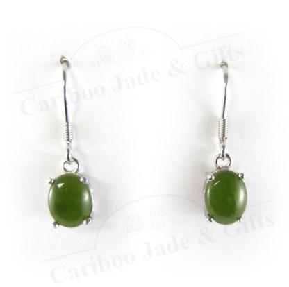 jade sterling silver dangle earrings