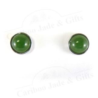 BC nephrite jade bezel earring