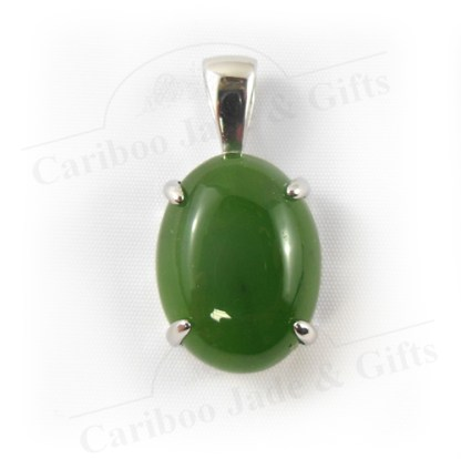 BC Jade 12x16 sterling silver pendant