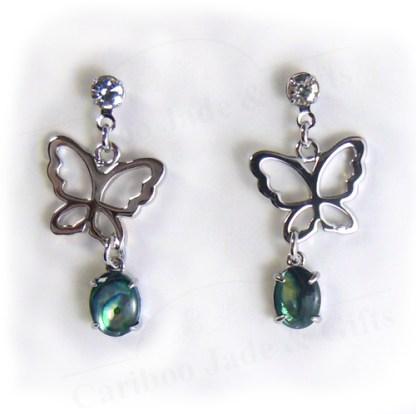 abalone butterfly dawn earrings