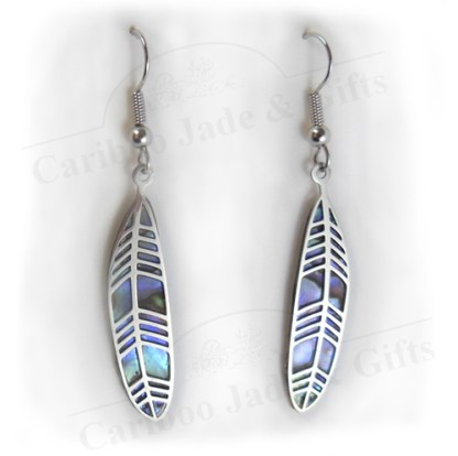 glacier pearle feather earring