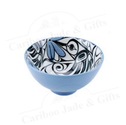 Hummingbird ceramic bowl by Bill Helin