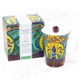 strong earth woman porcelain mug