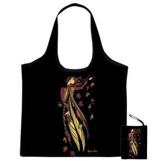 """""""Leaf Dancer"""" reusable shopping bag"""