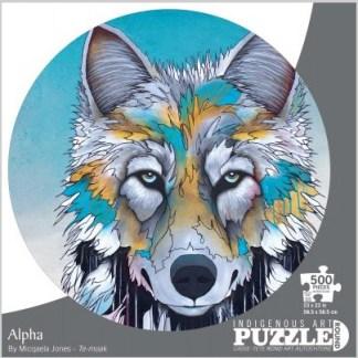 """round puzzle """"alpha"""" wolf"""