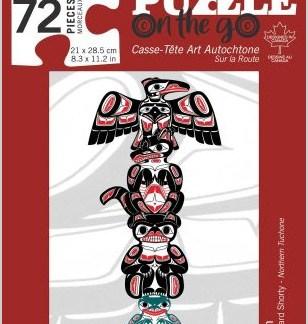 72 piece totem puzzle by Richard Shorty