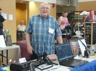 Bill from BK 2 Way Radio with his display