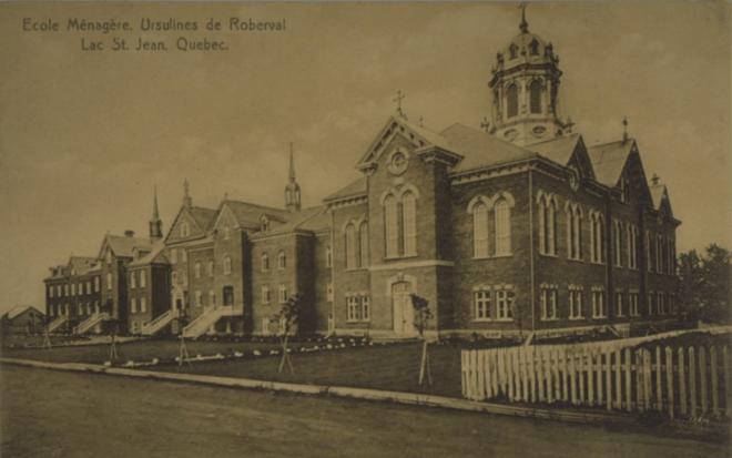 École ménagère des Ursulines à Roberval