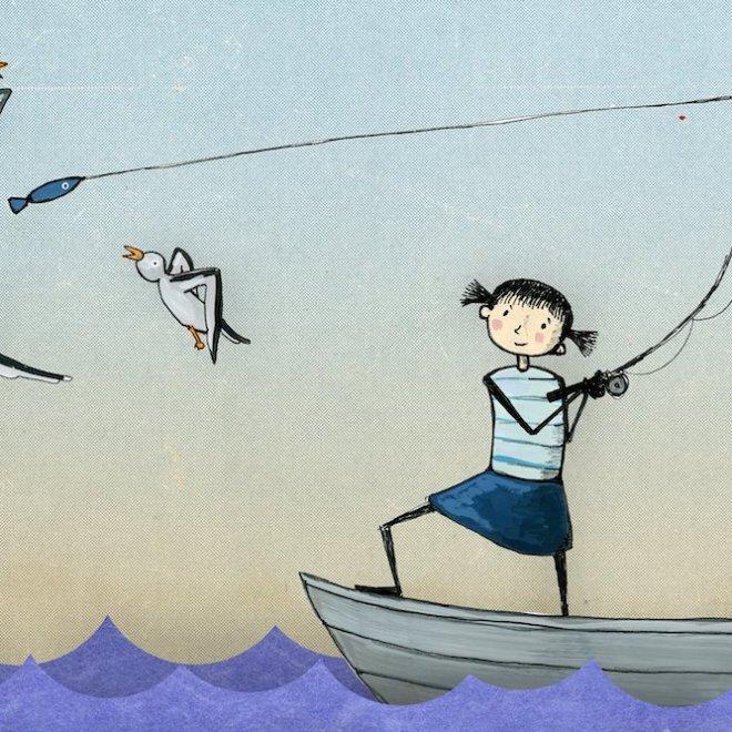 pêche au goéland