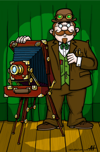 Self Portrait of the Professor, with the Mark II