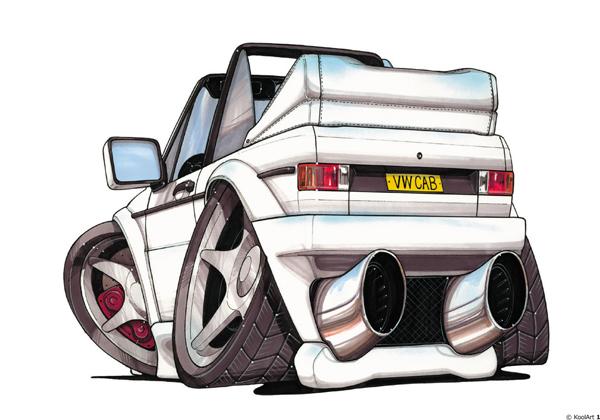 Volkswagen Golf Cabiolet Blanc