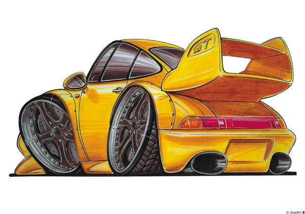 Porsche 911 GT Jaune