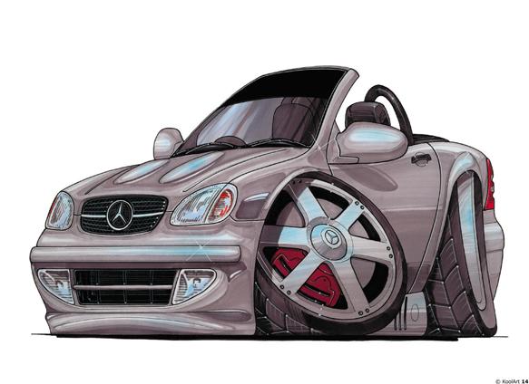 Mercedes SLK Grise