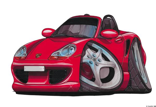 Porsche Boxster Cabriolet Rouge