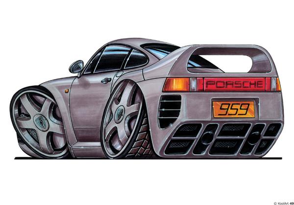 Porsche 959 Grise