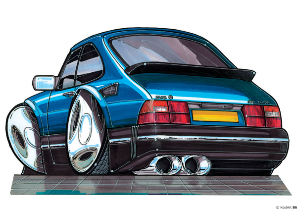 Saab 900 Bleue