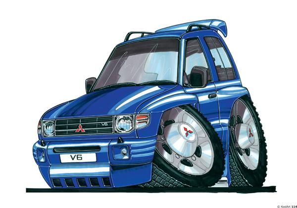 Mitsubishi Pajero 4X4 Bleu